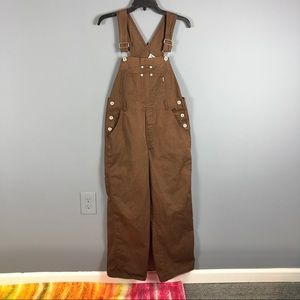 Vintage 80s jordache solid brown overalls